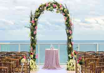 Place for a wedding by the ocean