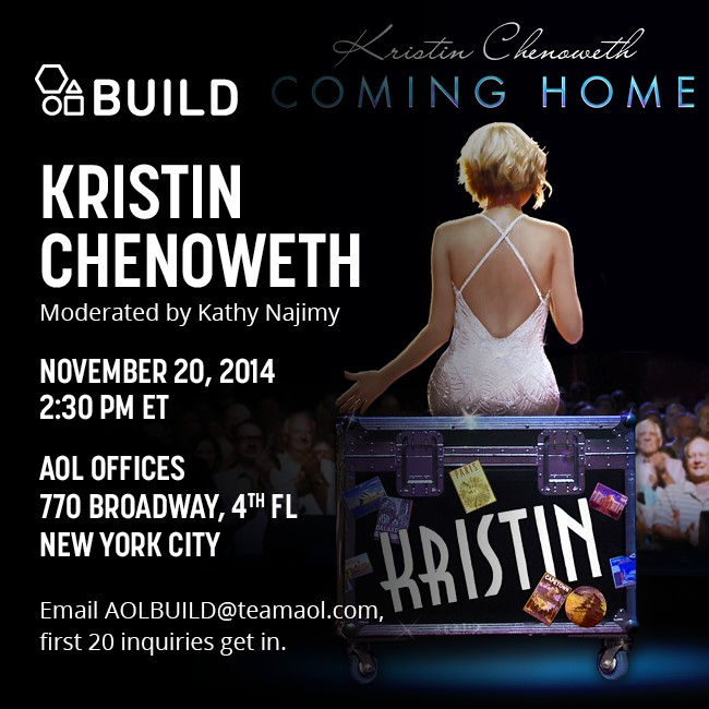 Announcing AOL BUILD ft. Kristin Chenoweth