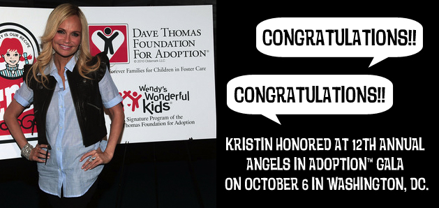 Congressional Coalition Recognizes Kristin Chenoweth as 'National Angel in Adoption™'