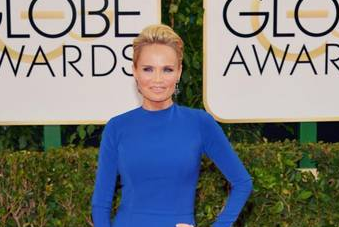 Kristin Chenoweth sparkles on Golden Globes red carpet in sapphire and diamond earrings from Levinson Jewelers