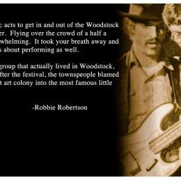 Robbie Robertson recalls flying over Woodstock