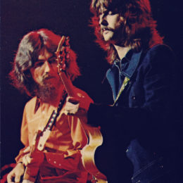 "VIDEO: George Harrison & Eric Clapton Perform ""While My Guitar Gently Weeps"""