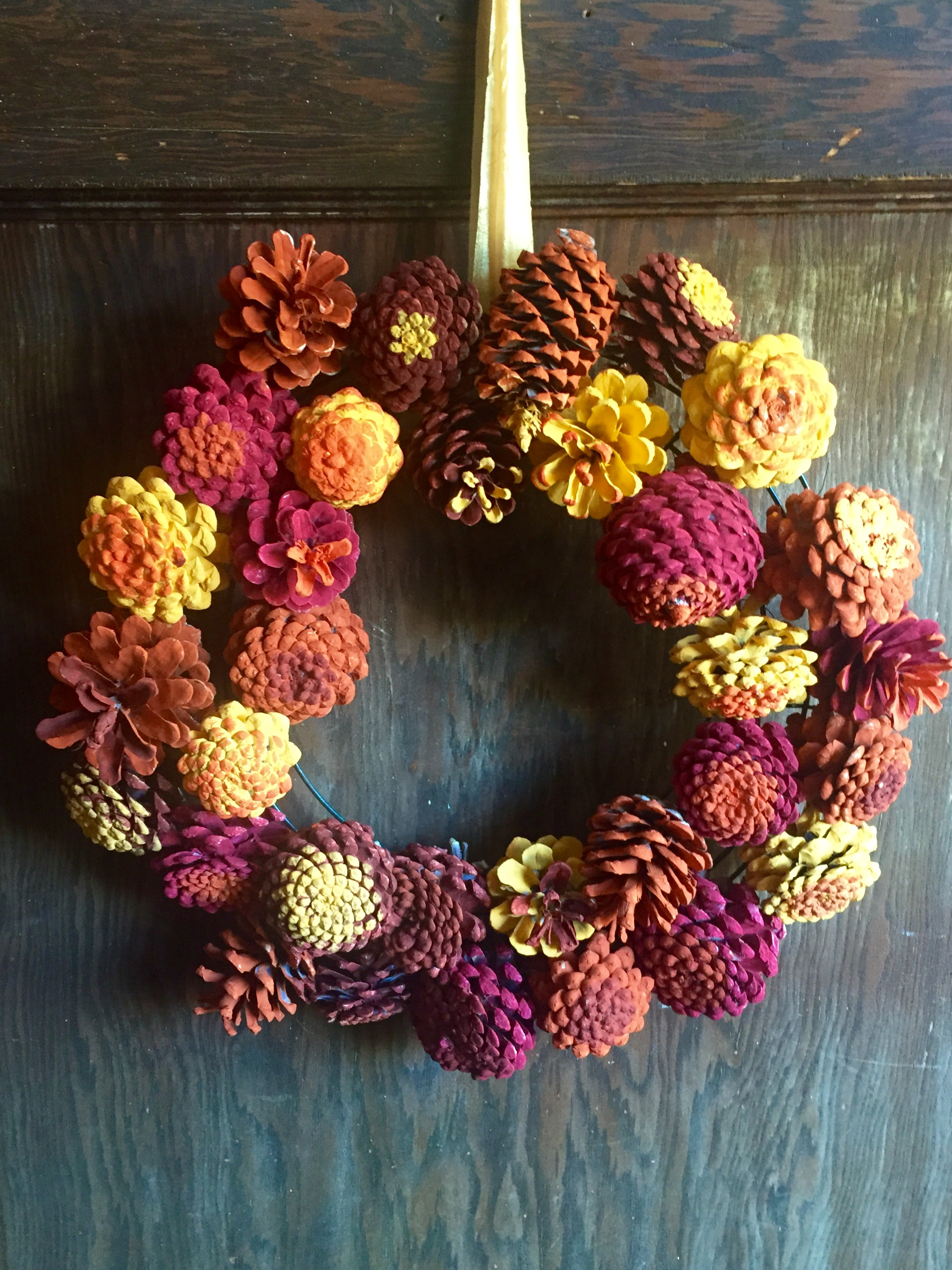 Make A Beautiful Autumn Wreath Out Of Pinecones Margaritaville Blog