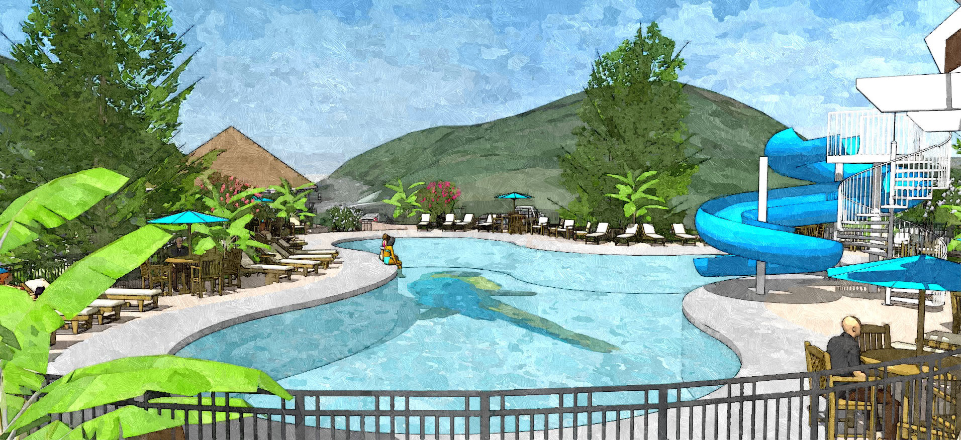 Pool View – Margaritaville Resort in the Smokies