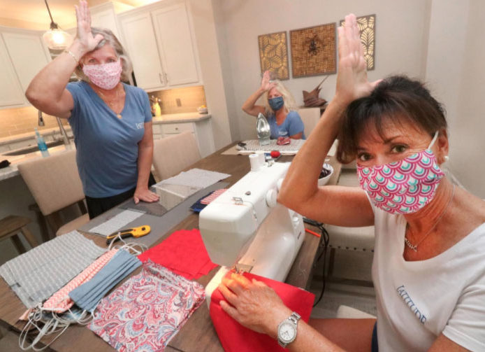 Margaritaville folks make hundreds of masks for healthcare workers