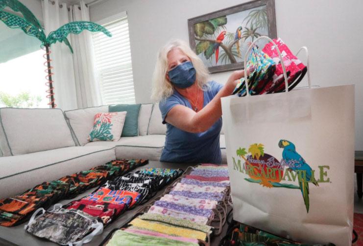 Margaritaville folks make hundreds of masks for healthcare workers