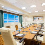 Board Room with large table and chairs