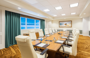 Board Room with a big table and executive chairs
