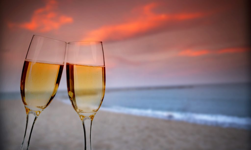 champagne-on-beach