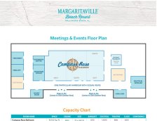 A Meeting Space Sizing Sheet image. Visually impaired customers please call for assistance