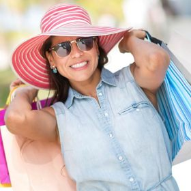 Woman with shopping packages