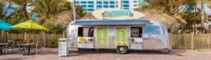 Photo of Floridays parked outside of the resort