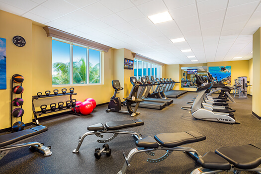 Fins Up Fitness Center with workout equipment
