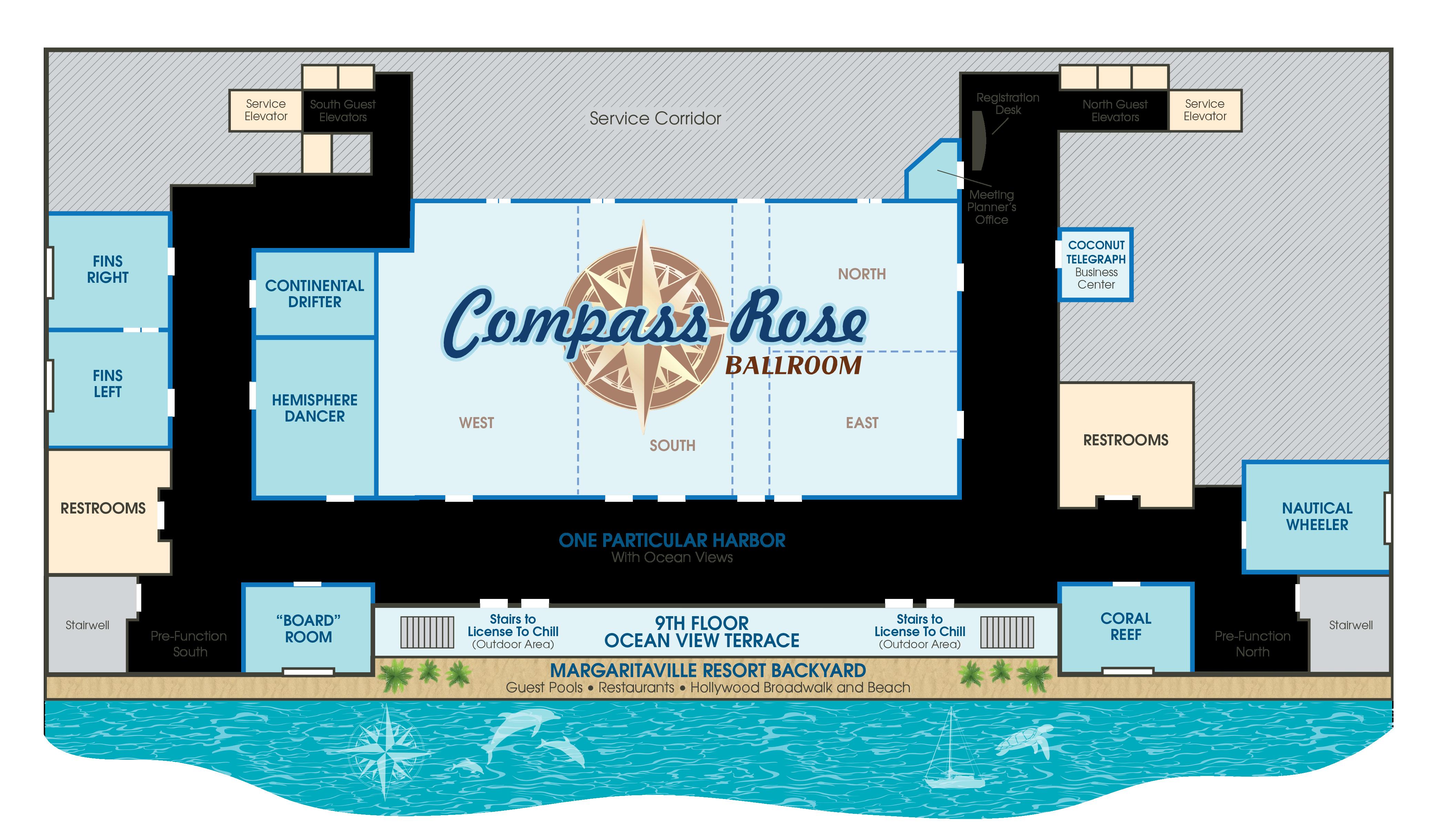 image of compass ballroom layout
