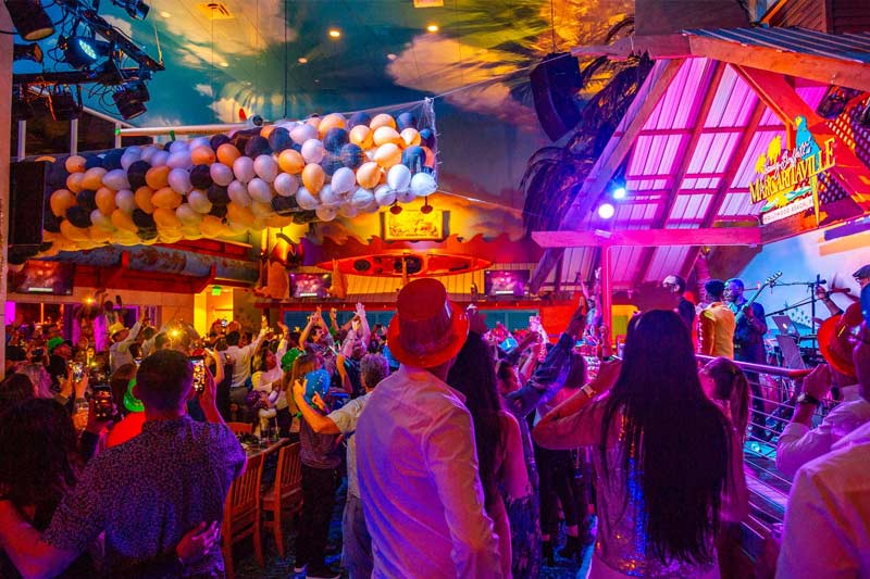 The New Year's Eve party and celebration at Jimmy Buffett's Margaritaville Restaurant in Hollywood FL