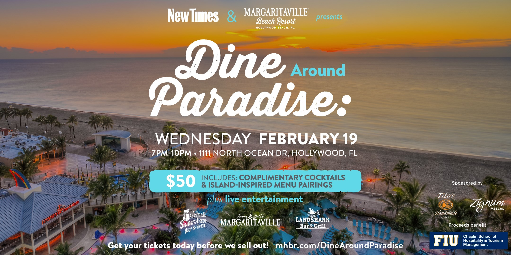 Dine Around Paradise with Margaritaville Hollywood Beach Resort