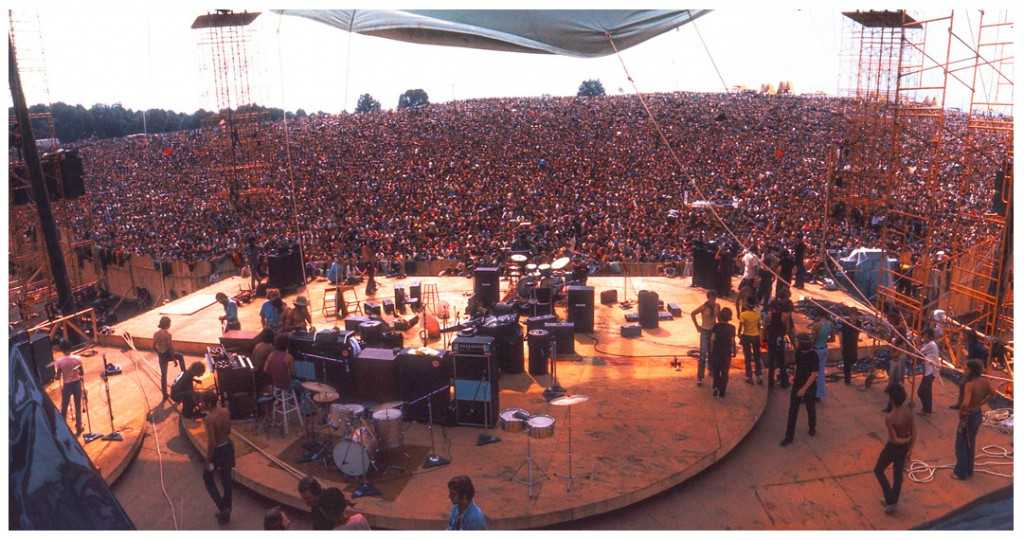 View From The Stage Shot By Jim Marshall Woodstock