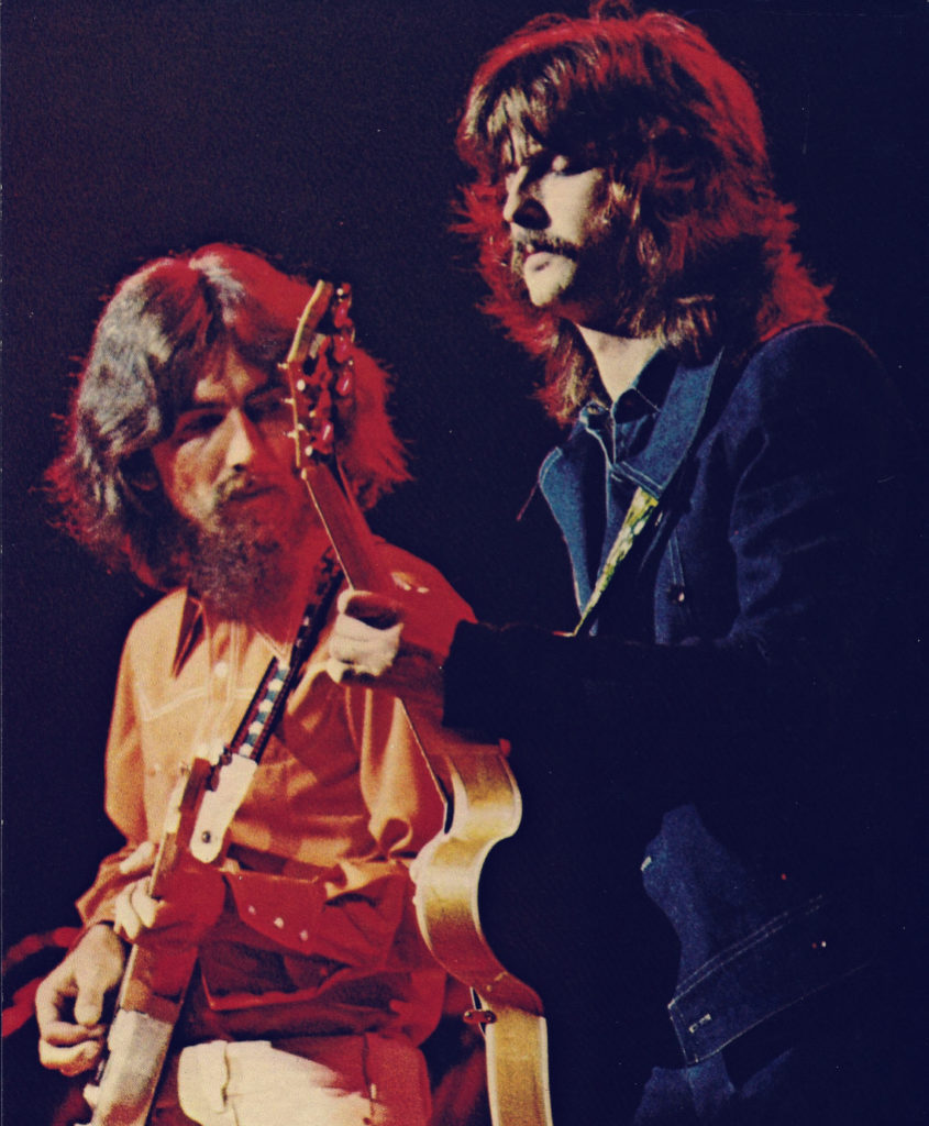 Take A Trip Down Memory Lane With This Special Clip Of George Harrison And Eric Clapton Performing The Beatles Track While My Guitar Gently Weeps In