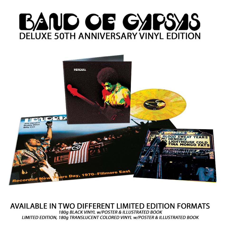 "Jimi Hendrix's ""Band of Gypsys"" 50th Anniversary edition released!"