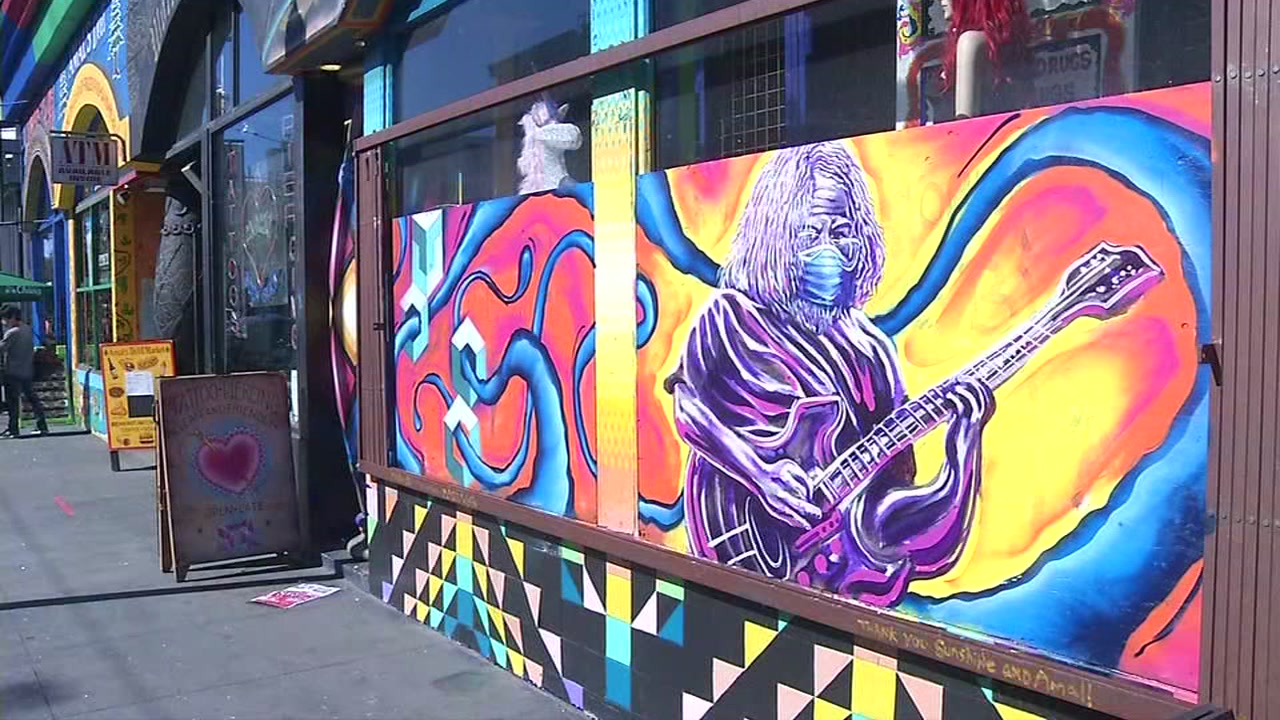 ABC7 News- New San Francisco mural shows how Janis Joplin, Jerry Garcia would look in masks